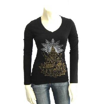 SinnsArt Ganesh Long Sleeve V-Neck Image